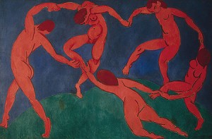 The Dance by Henri Matisse is one of a pair of panels known as The Dance and Music, and is housed in the State Hermitage Museum in St Petersburg