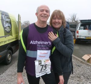 Paul & Alison Bulmer at an Alzheimer's Society half marathon about 18mths ago